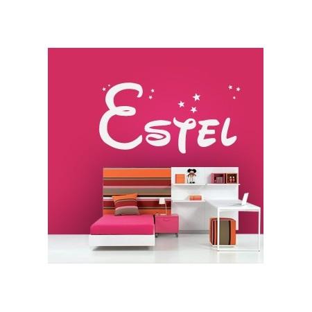 vinilos decorativos con nombre Estel