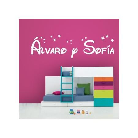 vinilos con nombres Álvaro y Sofía