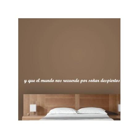 vinilos frases Soñar Despiertos