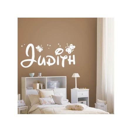 pegatinas paredes nombre Judith