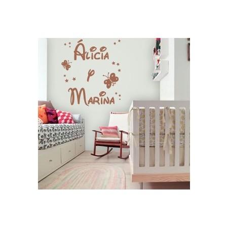 vinilos nombres Alicia y Marina