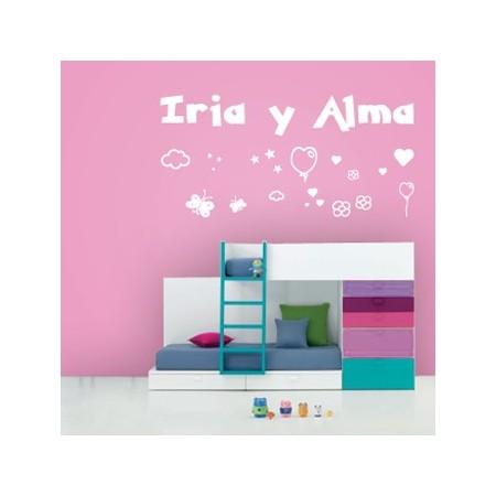vinilos nombres Iria y Alma