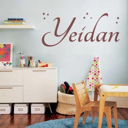 vinilos con nombre Yeidan