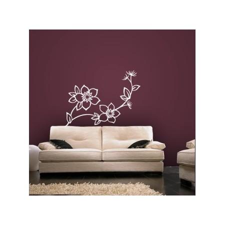 Pegatinas Flor decorativa