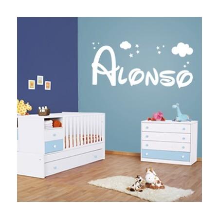 Vinilos paredes con Nombre Alonso