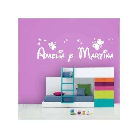vinilos decorativos Amelia y Martina