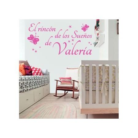 pegatinas pared El Rincón de los Sueños de Valeria