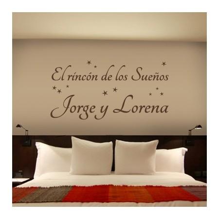 vinilos textos El Rincón de los Sueños Jorge y Lorena