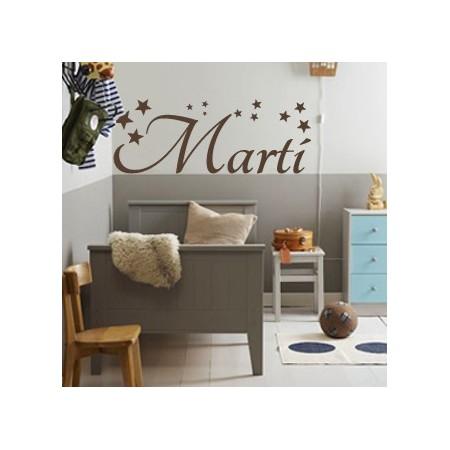 vinilos decorativos nombre Martí