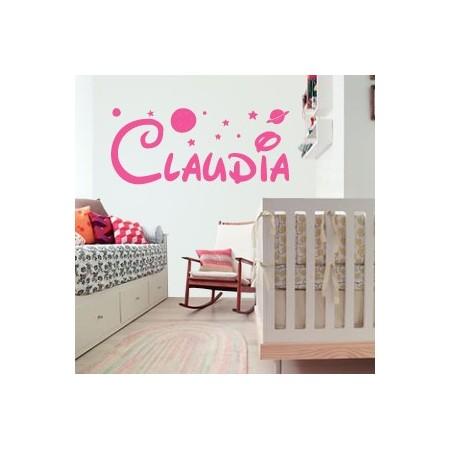 vinilos decorativos nombres Claudia