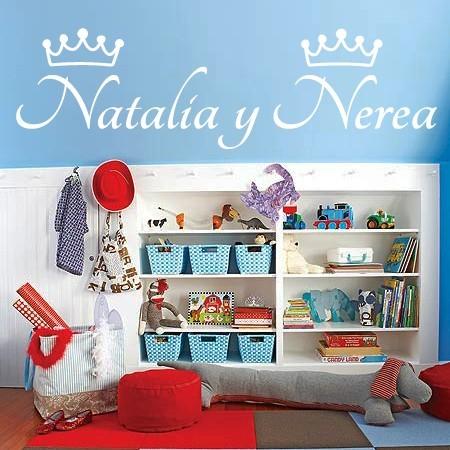 pegatinas pared nombres Natalia y Nerea