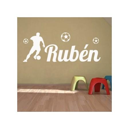 Vinilos Nombre Rubén futbol