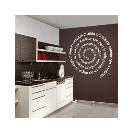 vinilos decorativos Texto en espiral