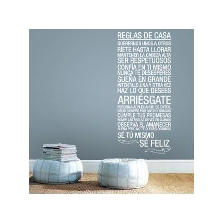 vinilos decorativos Reglas de Casa