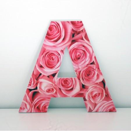 Letras Decorativas A flores