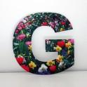 Letras Decorativas con flores G