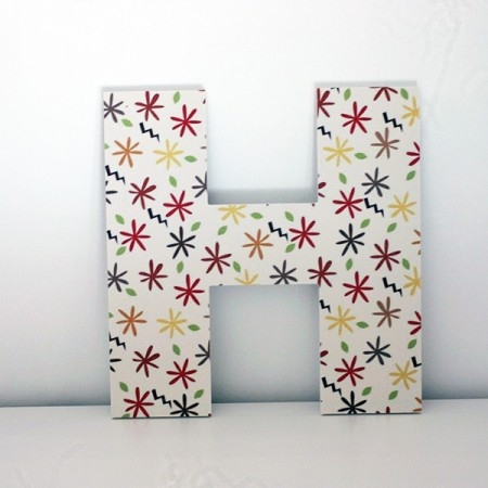 Letras Decorativas H infantiles