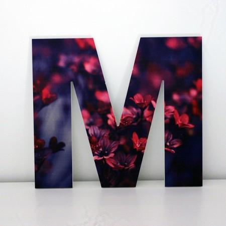 Letras Decorativas flores M