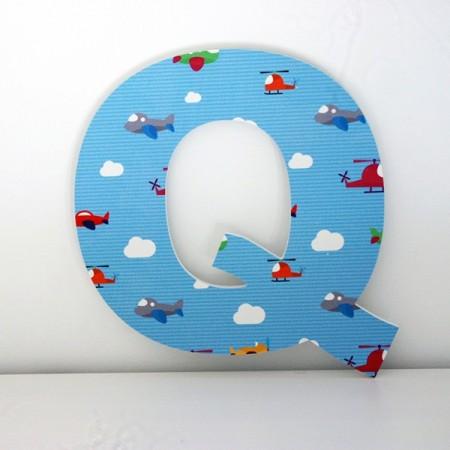 Letras Decorativas infantiles Q