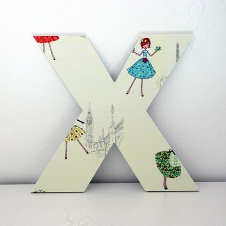 Letras Decorativas infantiles X