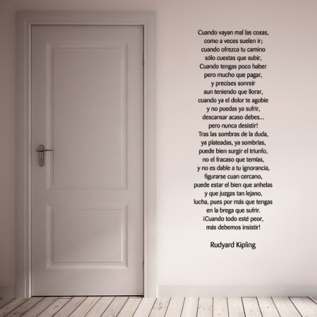 vinilos con Poema Rudyard Kiplig