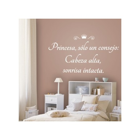 vinilos frases consejo princesa