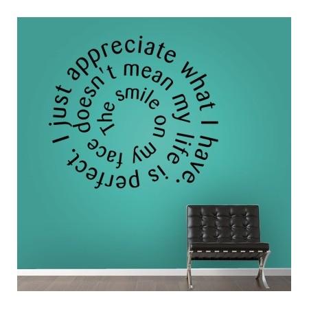 pegatinas pared Texto en espiral