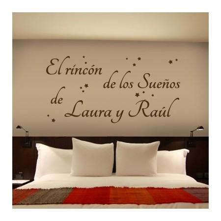 Vinilos nombres Laura y Raúl