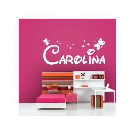 pegatinas de pared con nombre Carolina