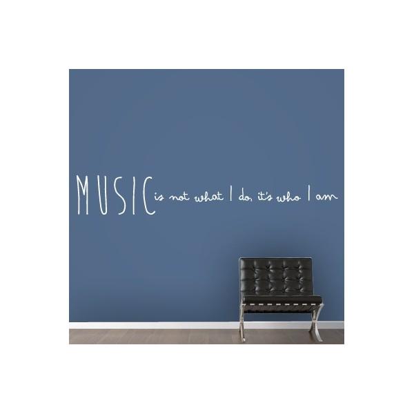 Vinilos Decorativos De Texto Con Frase En Inglés Sobre La Música