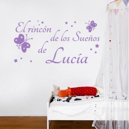 vinilos paredes infantiles El Rincón de los Sueños de Lucía