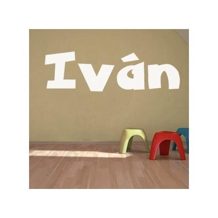 vinilos personalizados nombre Iván