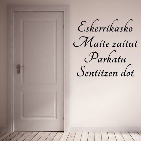 Vinilos texto Euskera