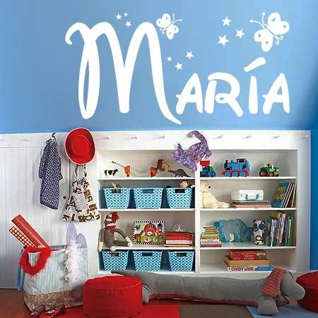 Vinilos decorativos nombre María