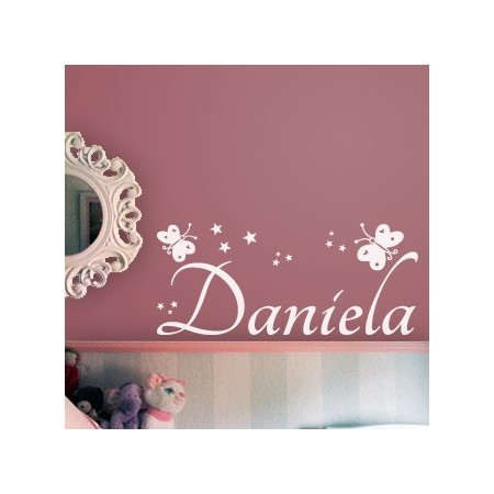 Vinilo nombre Daniela