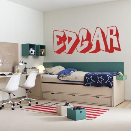 Vinilos nombre Edgar graffitti