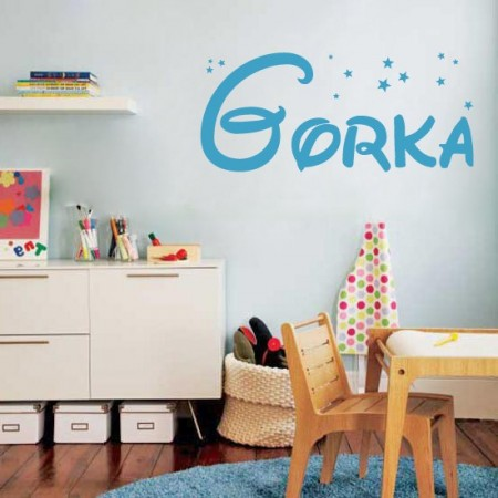 Vinilos decorativos nombre Gorka