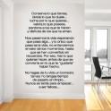 Vinilo decorativo texto personal