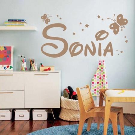 Vinilo adhesivo nombre Sonia