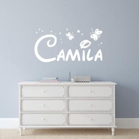 Vinilo nombre Camila