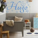 vinilos infantiles nombre Hugo
