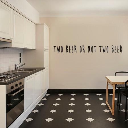 Vinilos frase Two Beer