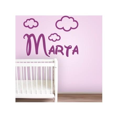 Vinilos decorativos Nombre Marta