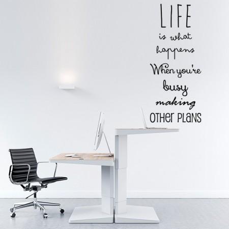 """vinilos texto en inglés """"Life is..."""""""