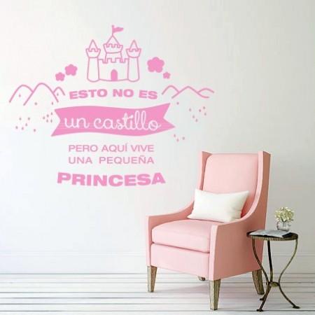 Vinilo Princesa y castillo