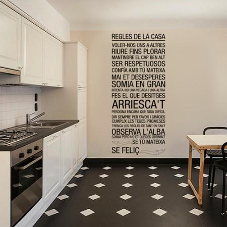 vinilos texto valenciano Regles de la Casa