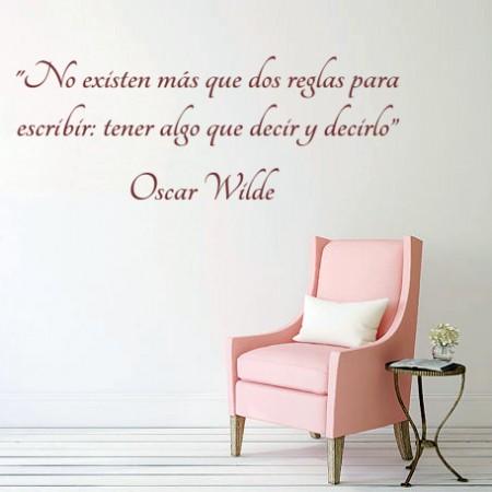 Vinilos Frase Oscar Wilde