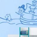 Vinilos decorativos de Piratas Infantiles