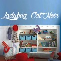 vinilos nombres Ladybug y Cat Noir