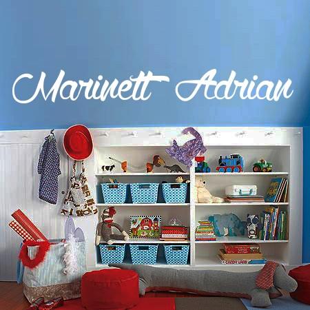 Vinilos nombres Marinett y Adrian